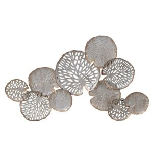 Gold & Silver Lillypad Wall art