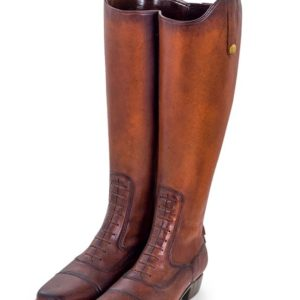 Leather Boots Umbrella Stand